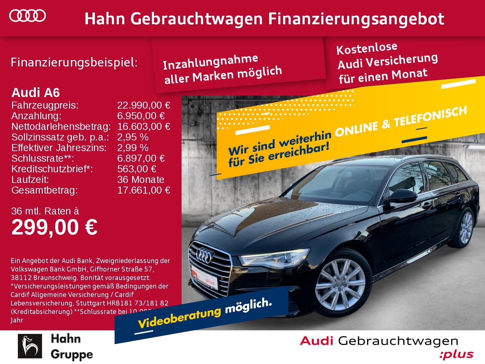 Audi A6 Avant 2.0TFSI S-trc Navi Xen Sitzh Einpark, Jahr 2016, Benzin
