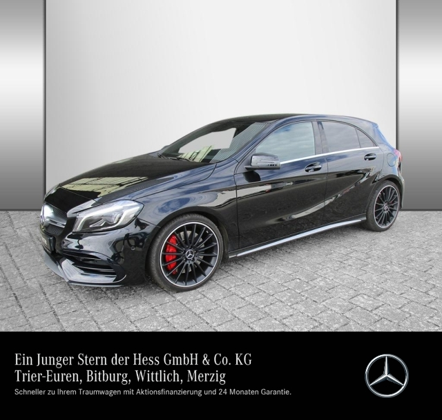 Mercedes-Benz A 45 AMG 4M Harman+Designo+Comand+Spur-P.+LED, Jahr 2016, Benzin