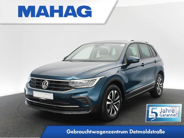 Volkswagen Tiguan UNITED 2.0 TDI Navi LED AHK FahrerAssistPlus Sprachbed. AppConnect DAB+ Bluetooth 6-Gang, Jahr 2020, Diesel