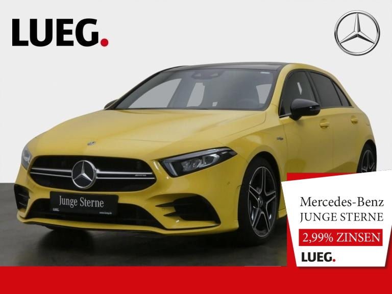 Mercedes-Benz A 35 AMG 4M MBUX+NavPrem+Pano+LED+Sound+Kamera++, Jahr 2019, Benzin