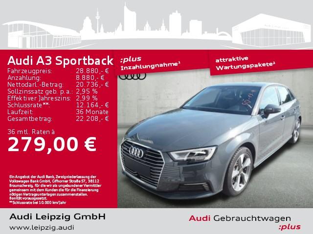 Audi A3 Sportback 1.4 TFSI e-tron sport *LED*AHK*, Jahr 2018, Hybrid