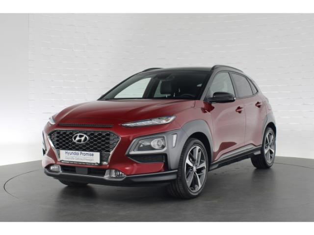 Hyundai Kona STYLE+VOLL-LED-SCHEINWERFER+NAVI+FERNLICHTASSISTENT+DAB+LENKRADHEIZUNG, Jahr 2018, Benzin