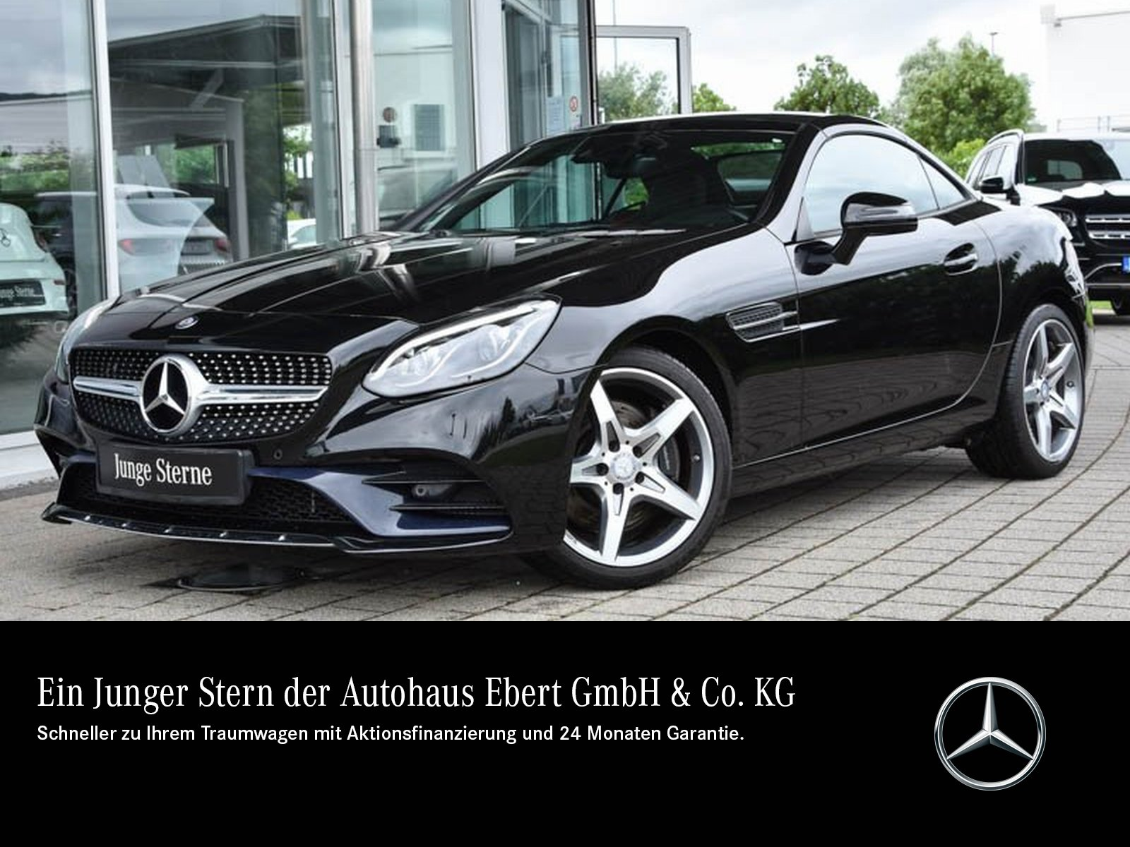 Mercedes-Benz SLC 200 AMG 9G+NAVI+VARIO+LED+PTS+SPORT-ABGAS, Jahr 2016, Benzin