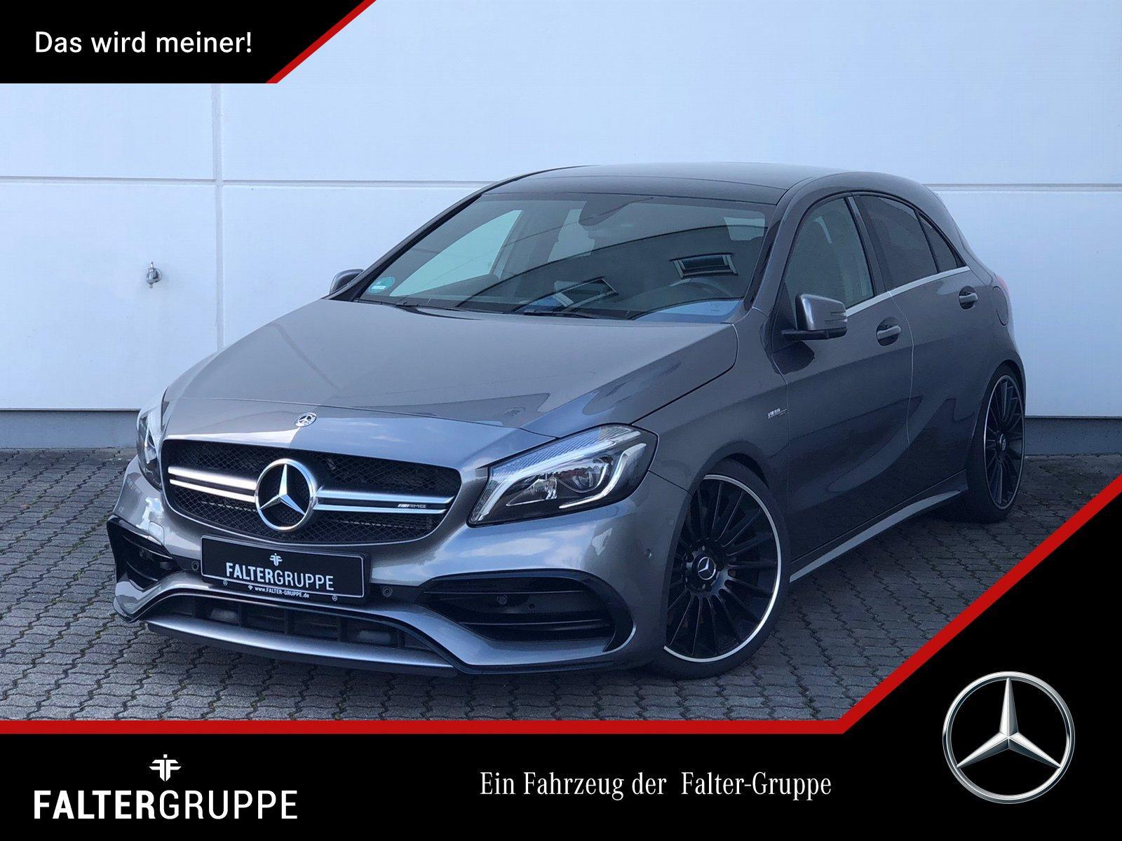 "Mercedes-Benz A 45 AMG 4M Pano LED Kamera PTS 8""Navi Klimaauto, Jahr 2018, petrol"