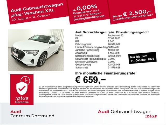 Audi e-tron 55 qu. S line/Black/HUD/Matrix/B+O/Pano, Jahr 2020, Elektro