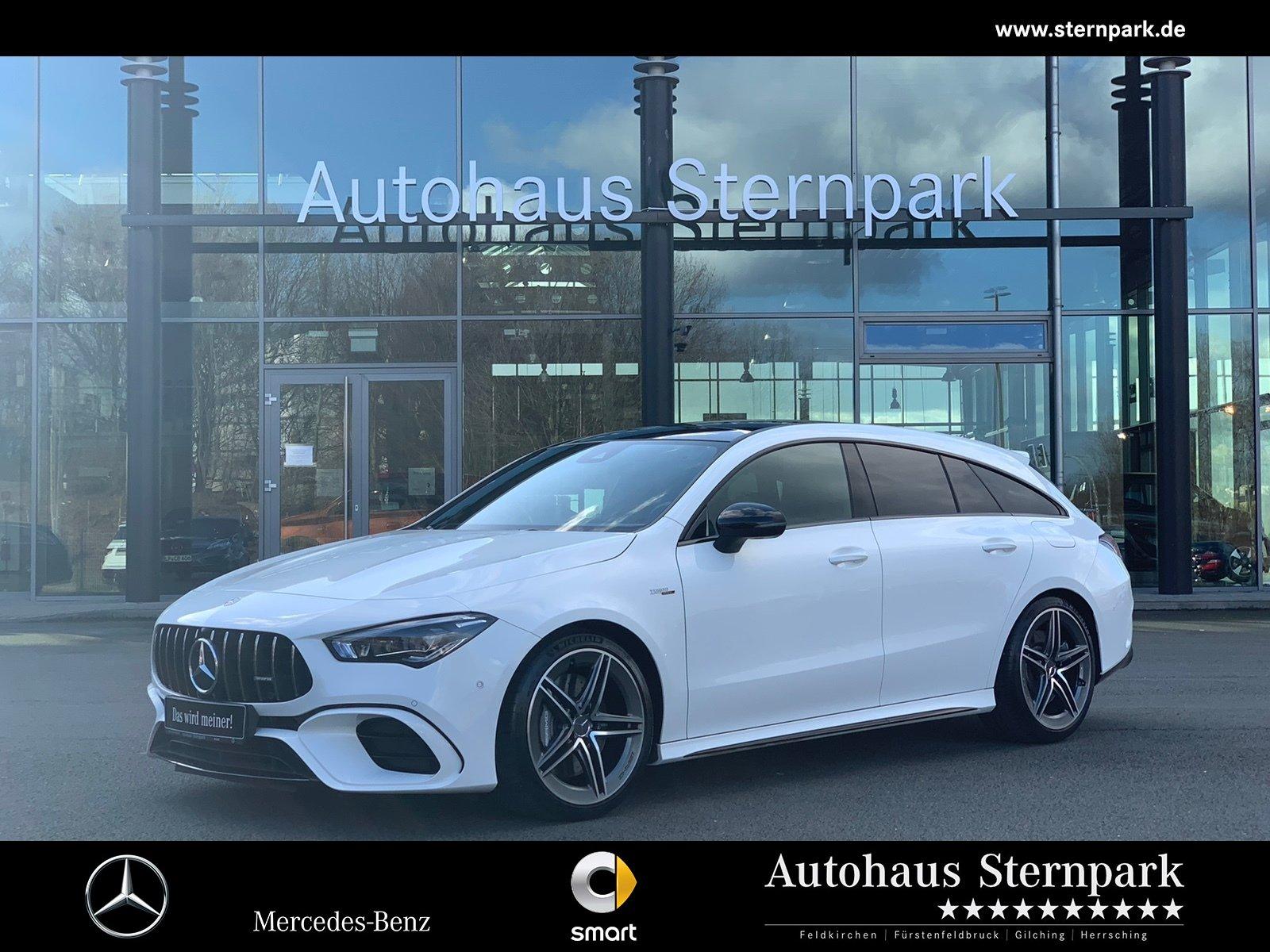 Mercedes-Benz CLA 45 AMG SB 4M+ MBUX+Pano+LED+Night+Kamera+uvm, Jahr 2019, Benzin