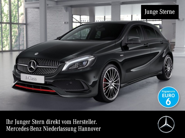 Mercedes-Benz A 250 Sport AMG LED Night Navi PTS Sitzh Sitzkom, Jahr 2017, petrol