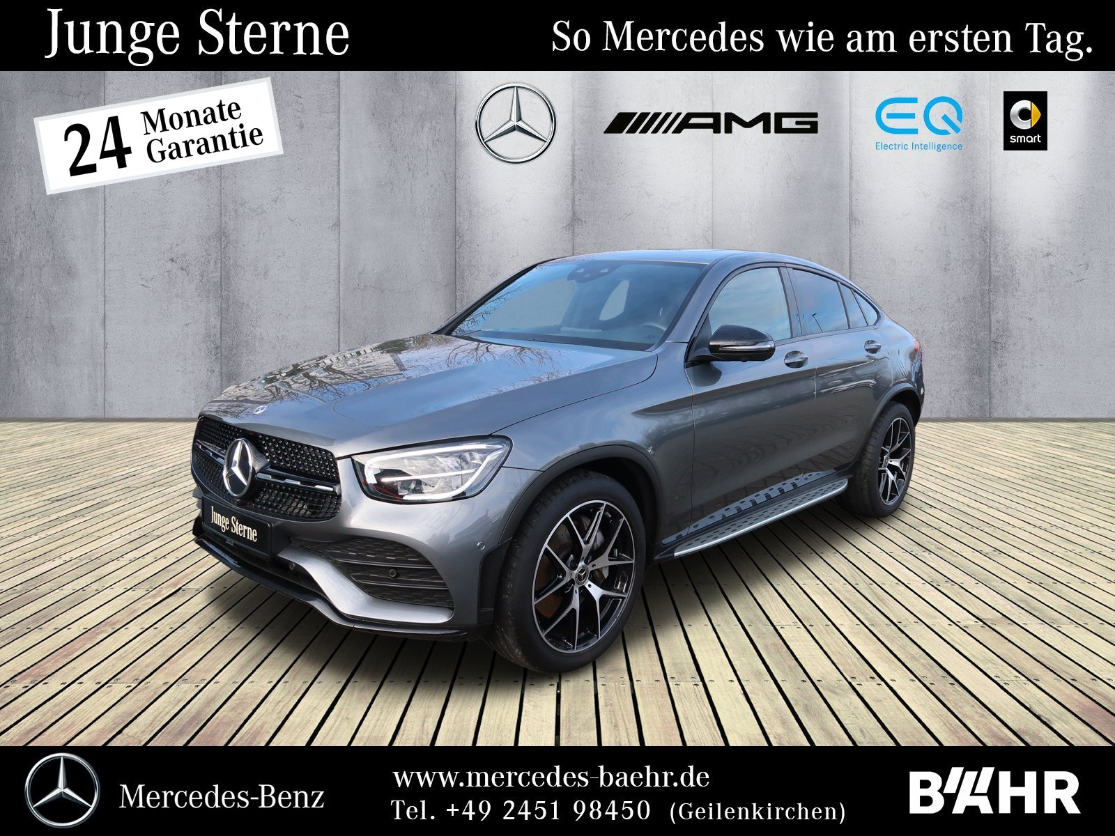 Mercedes-Benz GLC 400 d 4M Coupé AMG+Night/MBUX/LED/360°/SHD, Jahr 2019, Diesel