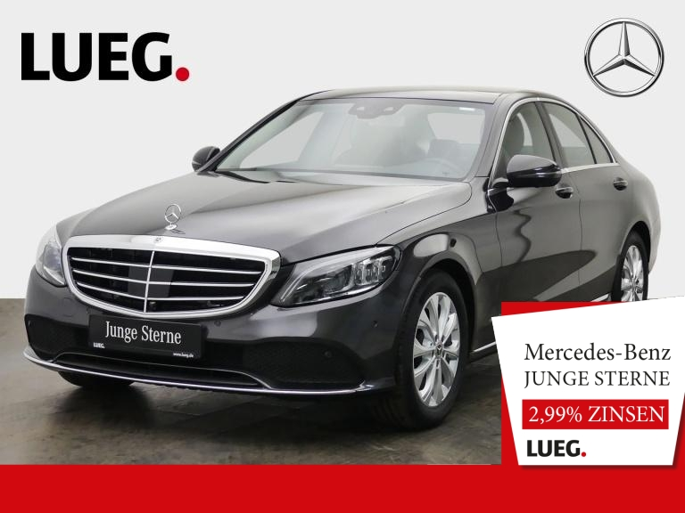 Mercedes-Benz C 160 Exclusive+COM+Pano+Mbeam+Sthzg+Sitzkl+360°, Jahr 2019, Benzin
