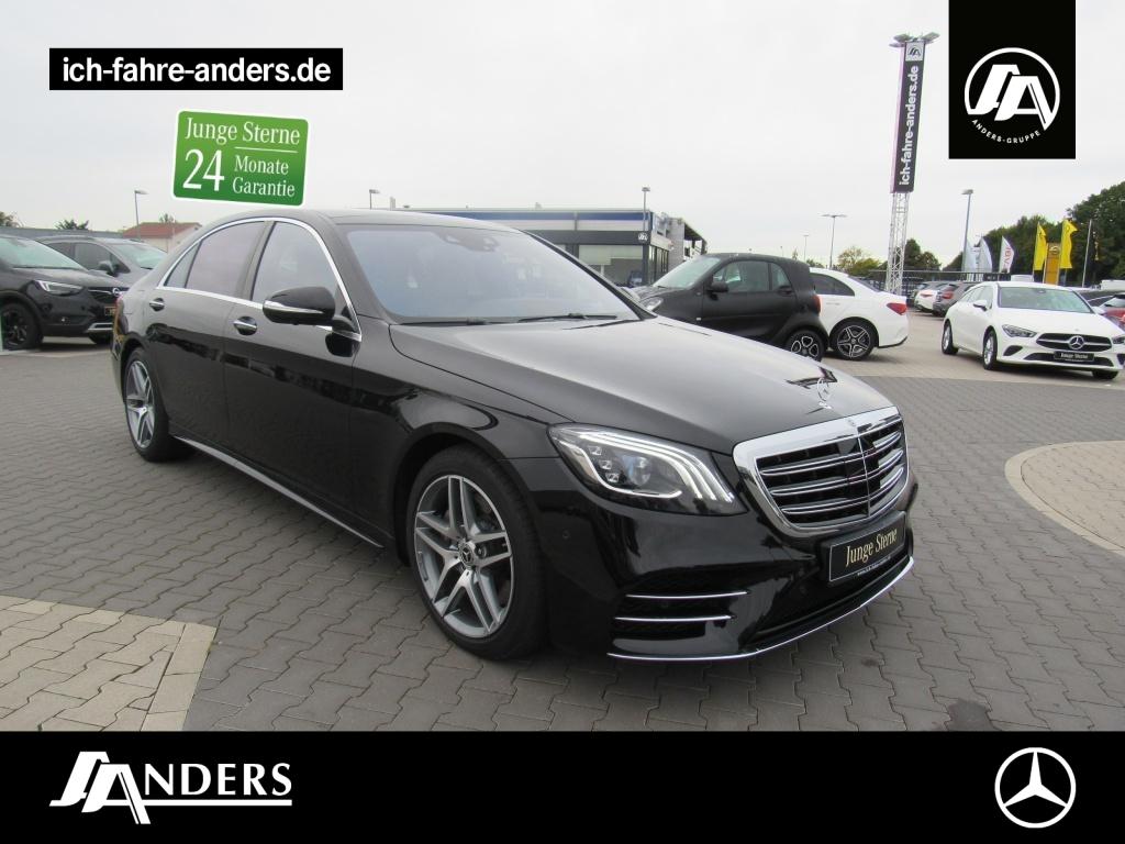 Mercedes-Benz S 560 4M L AMG+Sitzkl+Pano+Distr+Standhz+360+HUD, Jahr 2020, Benzin