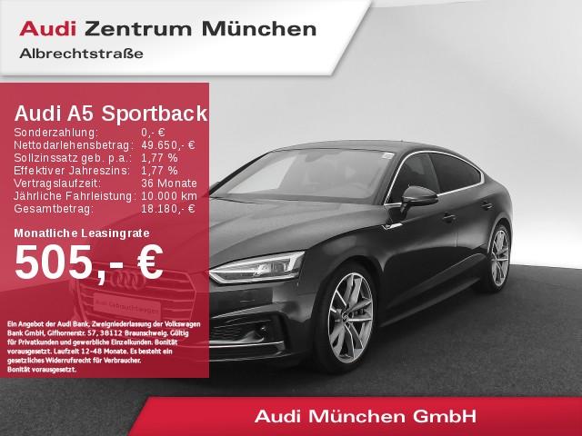 """Audi A5 Sportback 40 TDI Sport S line Virtual LED Navi Leder 19"""" Assistenz PDCplus S tronic, Jahr 2019, diesel"""