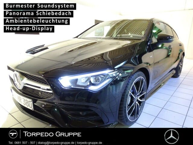 Mercedes-Benz CLA 35 AMG 4M SB LED+NIGHT+PANO+DISTR+HUD+PTS+SH, Jahr 2020, Benzin