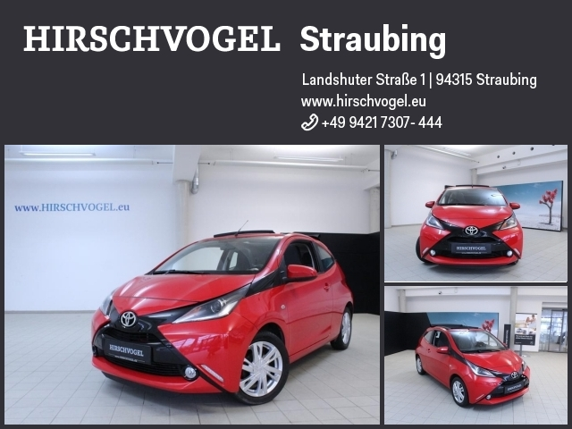 Toyota Aygo 1.0 VVT-i x-wave Faltdach+Kamera+SHZ+Leder, Jahr 2015, Benzin