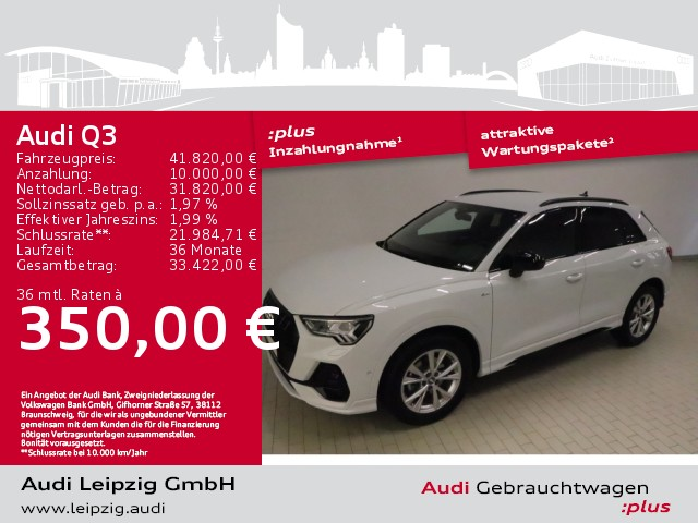 Audi Q3 35 TDI *S line*S tronic*Matrix*B&O*, Jahr 2020, Diesel