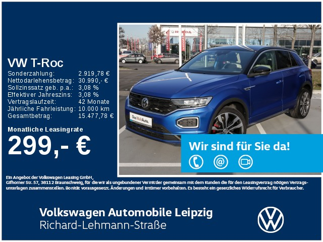 Volkswagen T-Roc Sport 2.0 TDI DSG R-Line *Navi*App-Connect*, Jahr 2019, Diesel