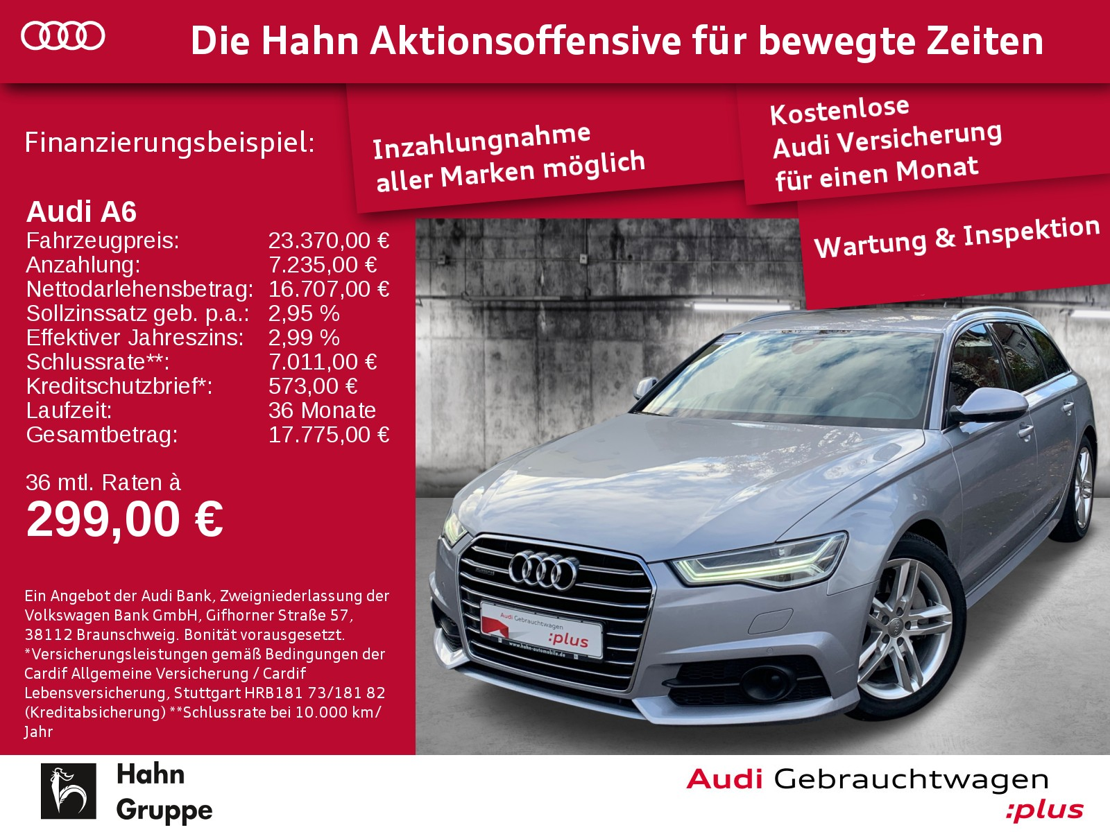 Audi A6 Avant 3.0TDI qu. S-Trc Matrix Navi BOSE Alcantara, Jahr 2017, Diesel