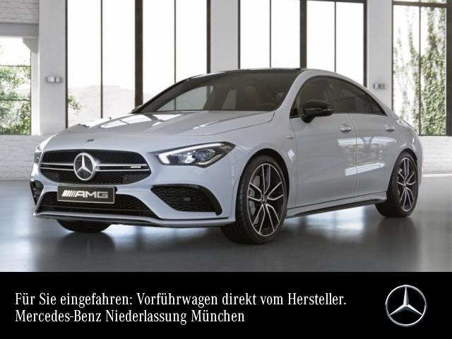 Mercedes-Benz CLA 35 AMG Cp. 4M AMG Perf-Lenk Pano Burmester LED, Jahr 2019, petrol