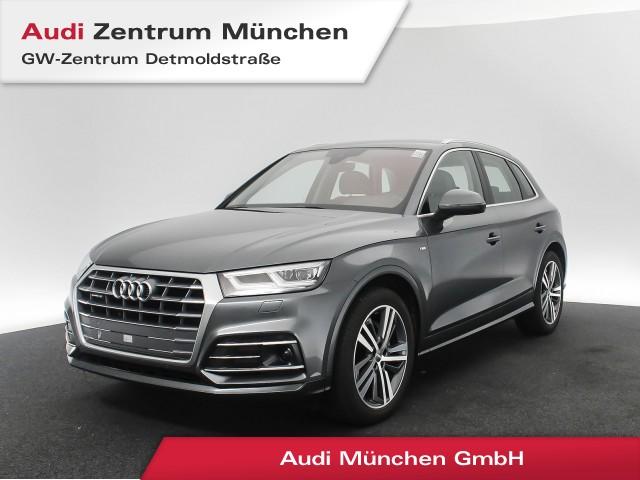 """Audi Q5 2.0 TDI qu. Design S line 20"""" Luftfahrw. Assistenz Matrix Navi Leder S tronic, Jahr 2018, diesel"""