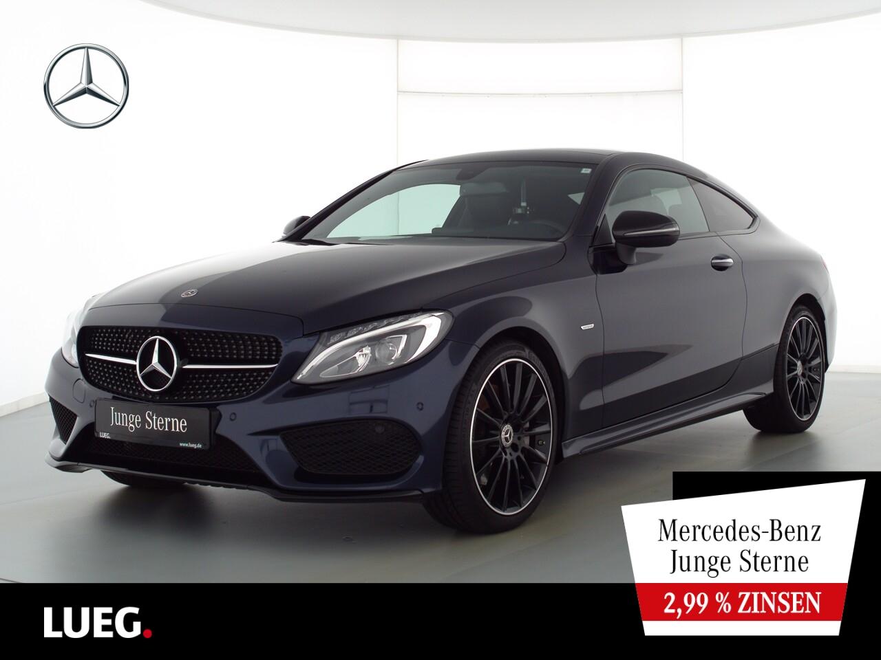Mercedes-Benz C 250 Coupe AMG+Navi+Pano+LED-HP+Sthzg+KeyGo+PTS, Jahr 2018, Benzin
