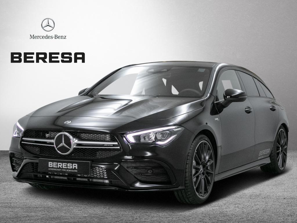 Mercedes-Benz CLA 35 AMG 4M SB Distr Pano. Burmester LED MBUX, Jahr 2019, petrol