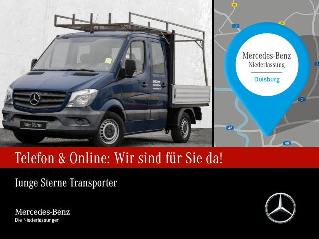 Mercedes-Benz Sprinter 313 CDI Pritsche Kompakt DoKa 7-Sitzer, Jahr 2015, Diesel