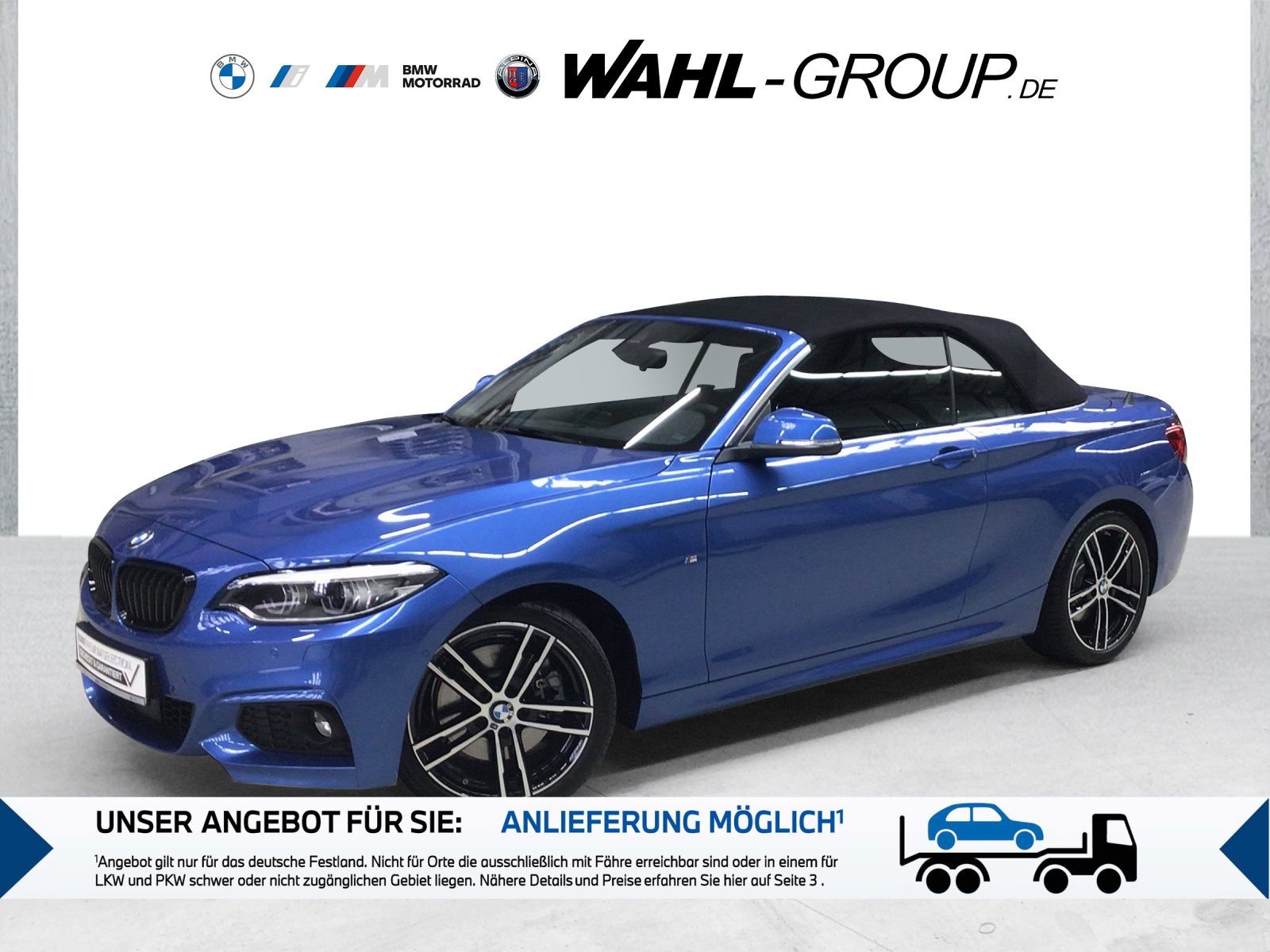 BMW 230i Cabrio M Sportpaket HK HiFi Leder LED WLAN, Jahr 2021, Benzin
