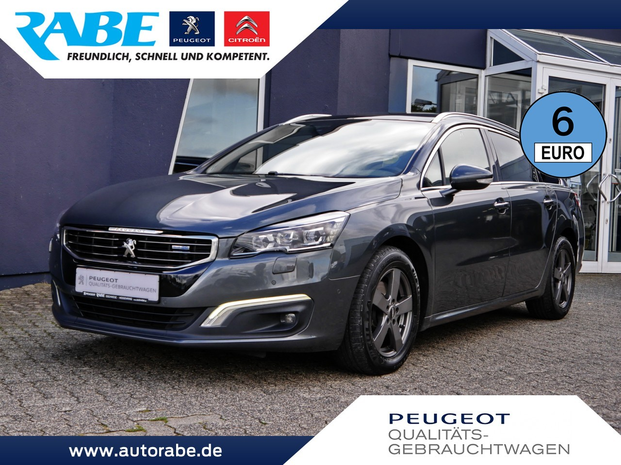 Peugeot 508 SW Allure 150 BlueHDi Navi+Pano+LED+Totwink., Jahr 2015, Diesel