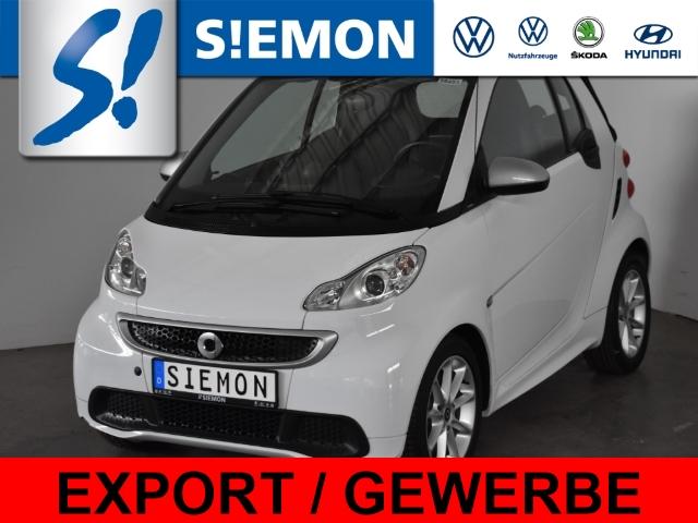 smart fortwo cabrio mhd passion Leder Klima SHZ BT FSE, Jahr 2013, Benzin