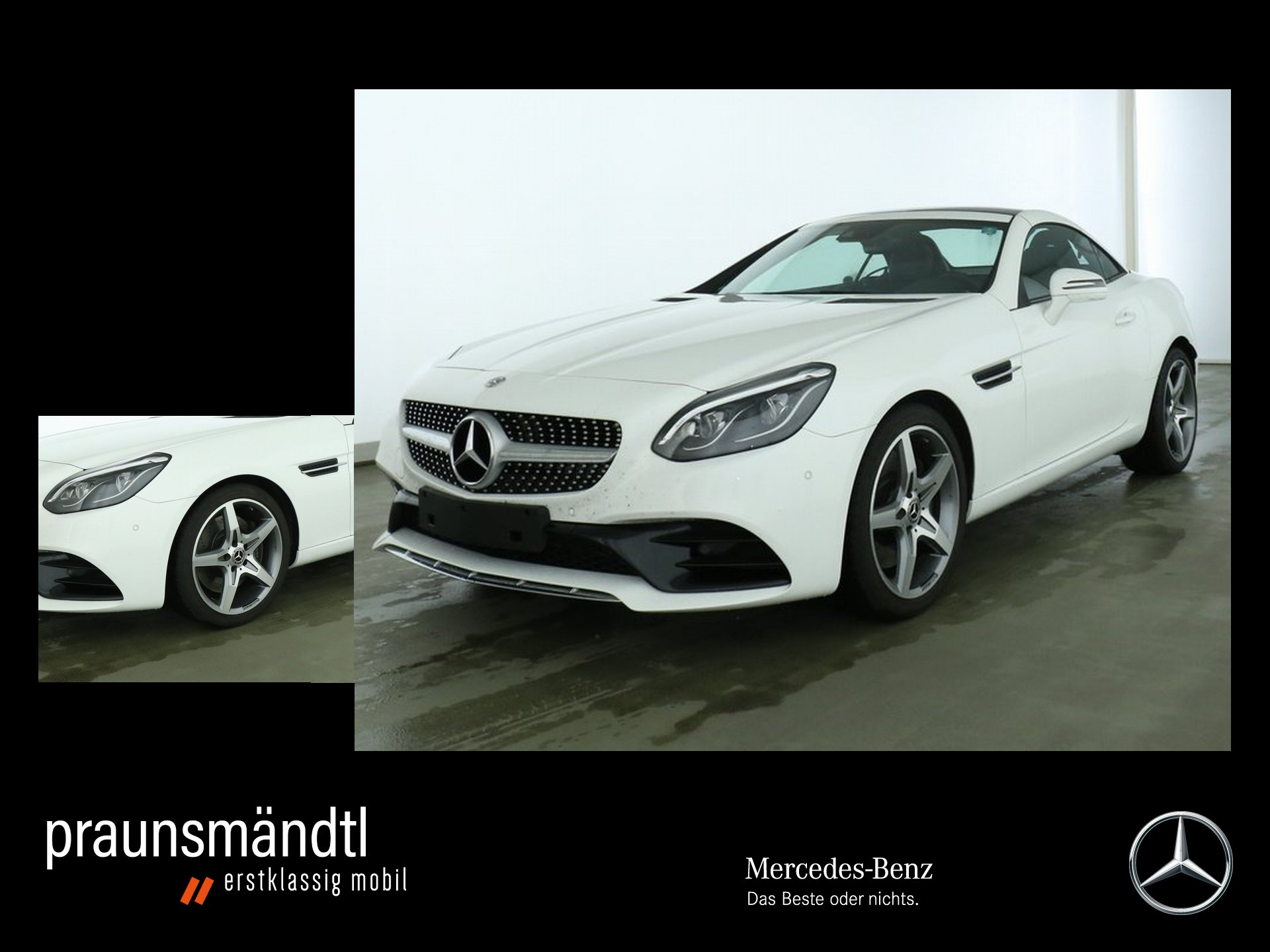 Mercedes-Benz SLC 200 AMG Comand/LED/PTS/Sound/Airscarf/Totwin, Jahr 2018, Benzin