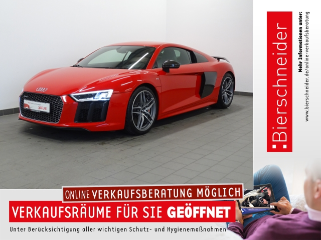 Audi R8 V10 plus 5.2 FSI SPORTABGAS LASER KERAMIK B&O VIRTUAL KAMERA NAVI LEDER 19 GRA CONNECT DAB, Jahr 2016, Benzin