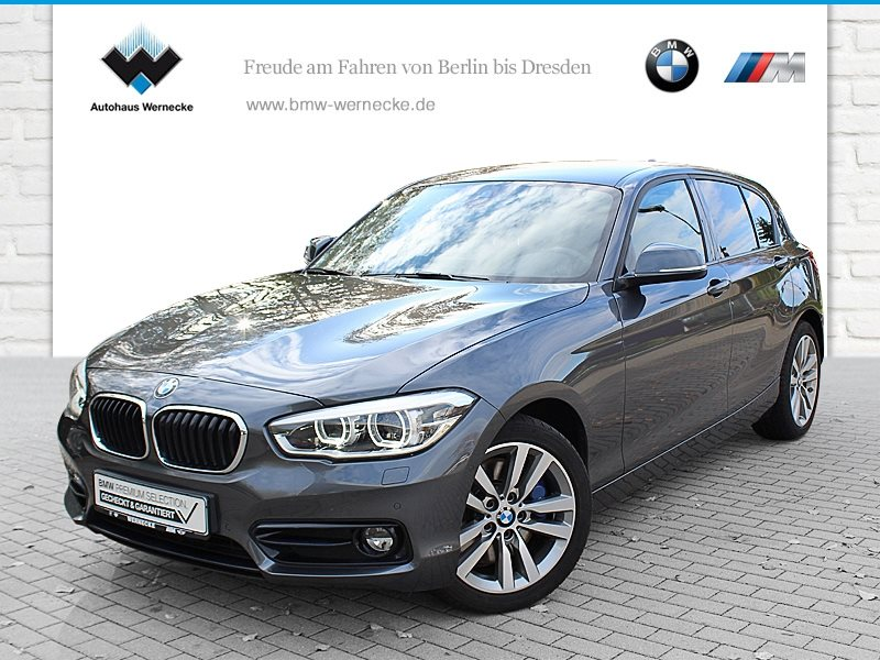 BMW 125i 5-Türer Sport Line HK HiFi DAB LED Shz PDC, Jahr 2016, petrol