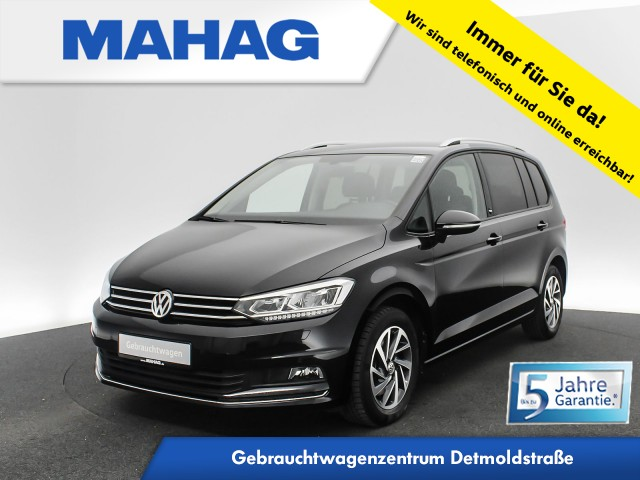 Volkswagen Touran 1.2 TSI SOUND Navi LED Standhz. AppConnect DAB+ Sitzhz. ParkPilot FrontAssist 16Zoll 6-Gang, Jahr 2018, Benzin