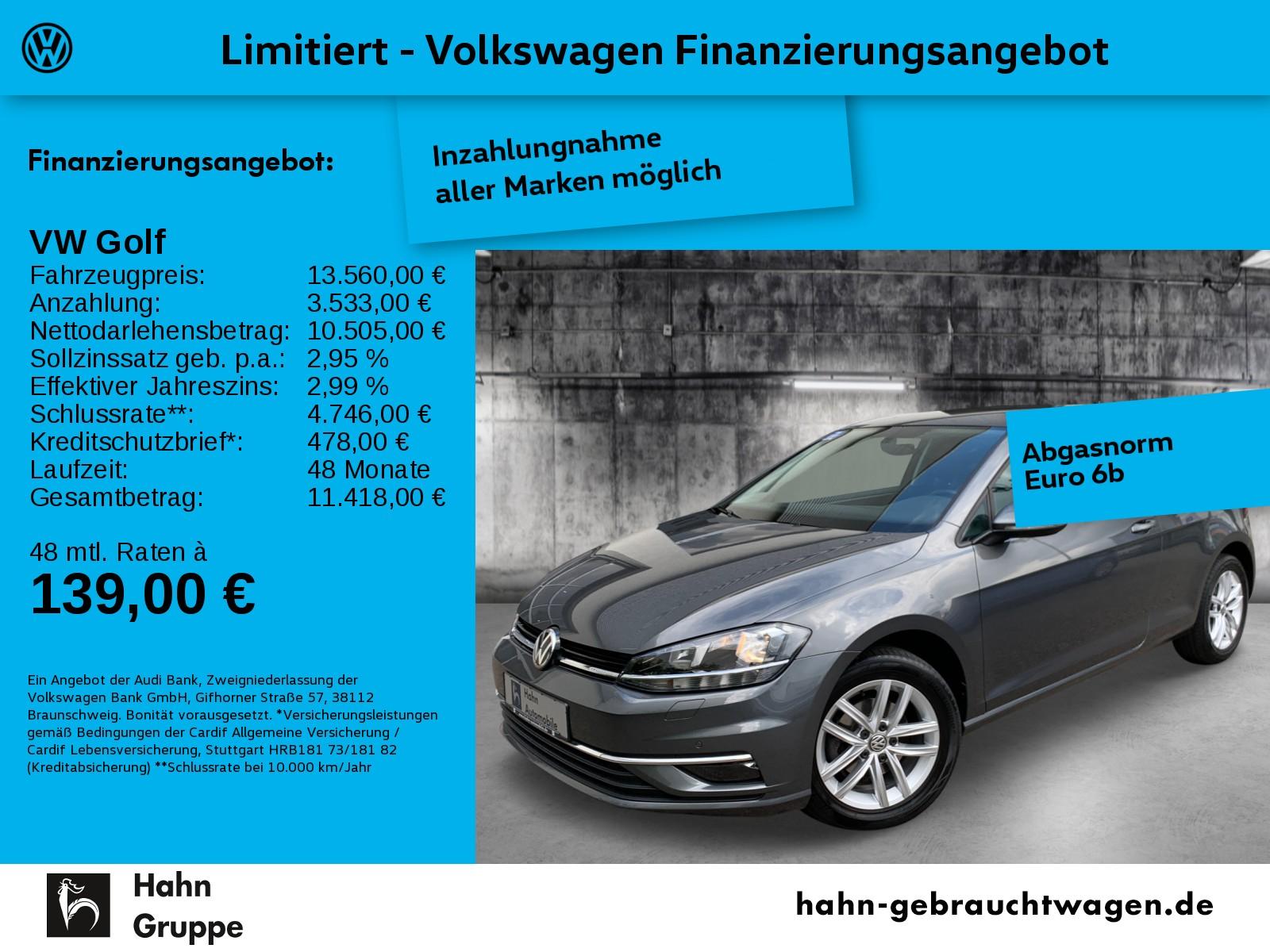Volkswagen Golf VII Comfortline 1,0TSI ACC Park Sitzhz App, Jahr 2017, Benzin