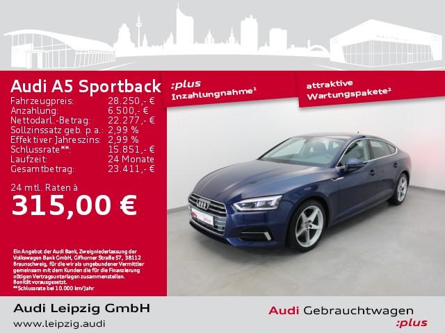 Audi A5 Sportback 2.0 TFSI sport *LED*Navi*, Jahr 2017, Benzin