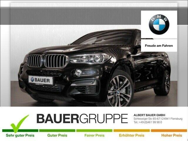 BMW X6 M50 d Leder LED Navi StandHZG Keyless Kurvenlicht e-Sitze HUD Rückfahrkam. Allrad Fernlichtass., Jahr 2015, Diesel