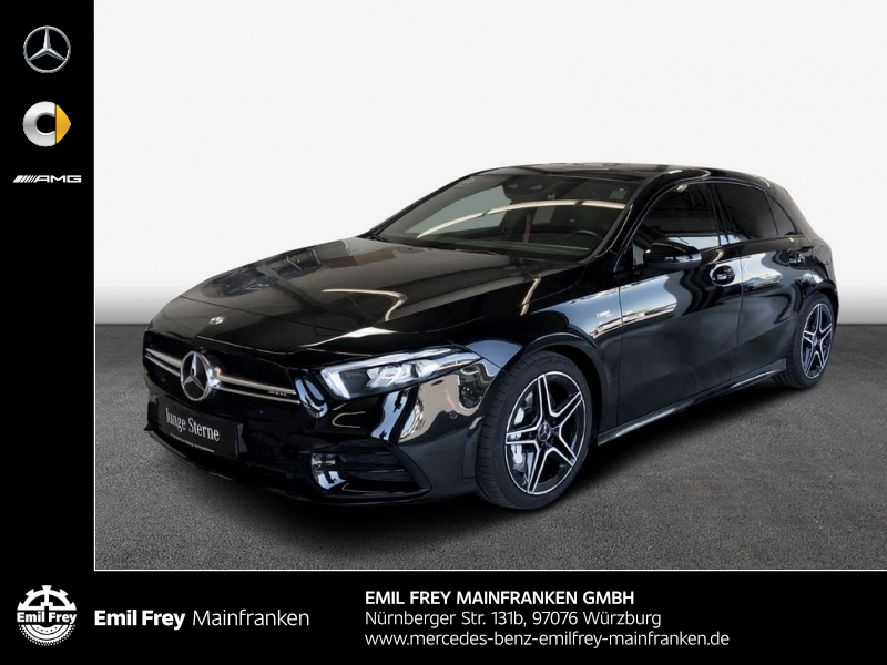 Mercedes-Benz A 35 AMG 4M+Night+PremiumMBUX+Sound+PANO+Park, Jahr 2019, Benzin