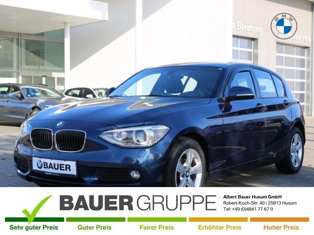 BMW 116 i Navi Keyless LED-hinten Multif.Lenkrad RDC Klimaautom SHZ Temp PDC Soundsystem CD, Jahr 2014, Benzin