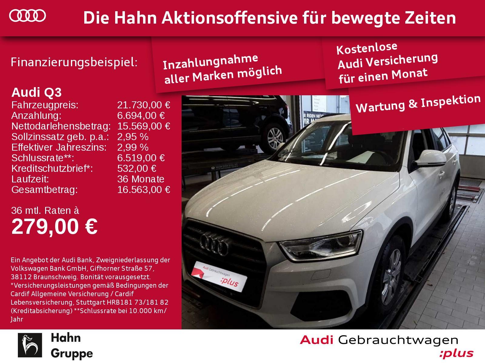 Audi Q3 2.0TDI Basis Xen Sitzh Einpark, Jahr 2017, Diesel