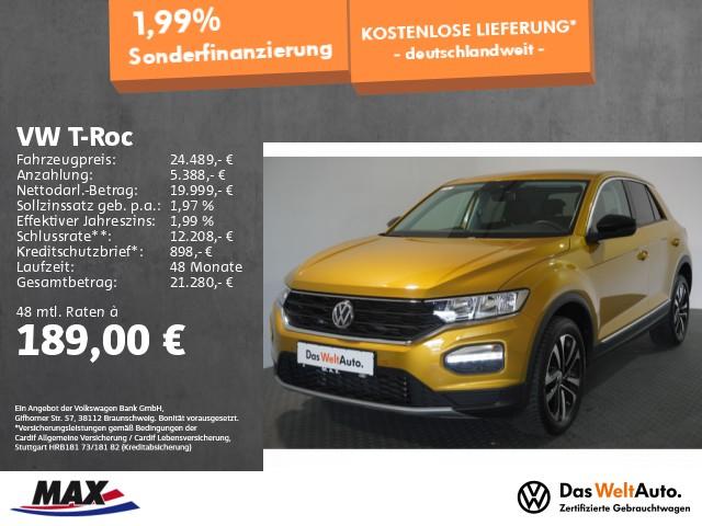 Volkswagen T-Roc 1.5 TSI UNITED NAVI+PDC+LANE ASSIST+ALU 17, Jahr 2020, Benzin