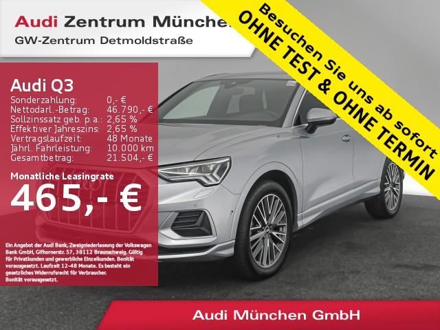 Audi Q3 40 TDI qu. S line AHK Standhz. Virtual B&O MatrixLED R-Kamera S tronic, Jahr 2020, Diesel