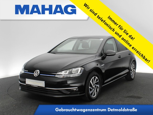 Volkswagen Golf VII 1.5 TSI Sound Navi AppConnect Sitzhz. ParkPilot LightAssist FrontAssist 16Zoll DSG, Jahr 2017, Benzin