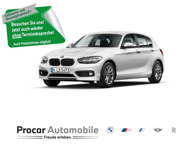 BMW 120i 5-Tuerer Advantage +Navigation +Sportlenkrad +Tempomat +Sitzheizung, Jahr 2018, Benzin