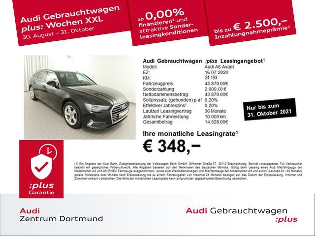 Audi A6 Avant 45TDI qu. sport Pano/AHK/Leder/eSitze/KAM, Jahr 2020, Diesel