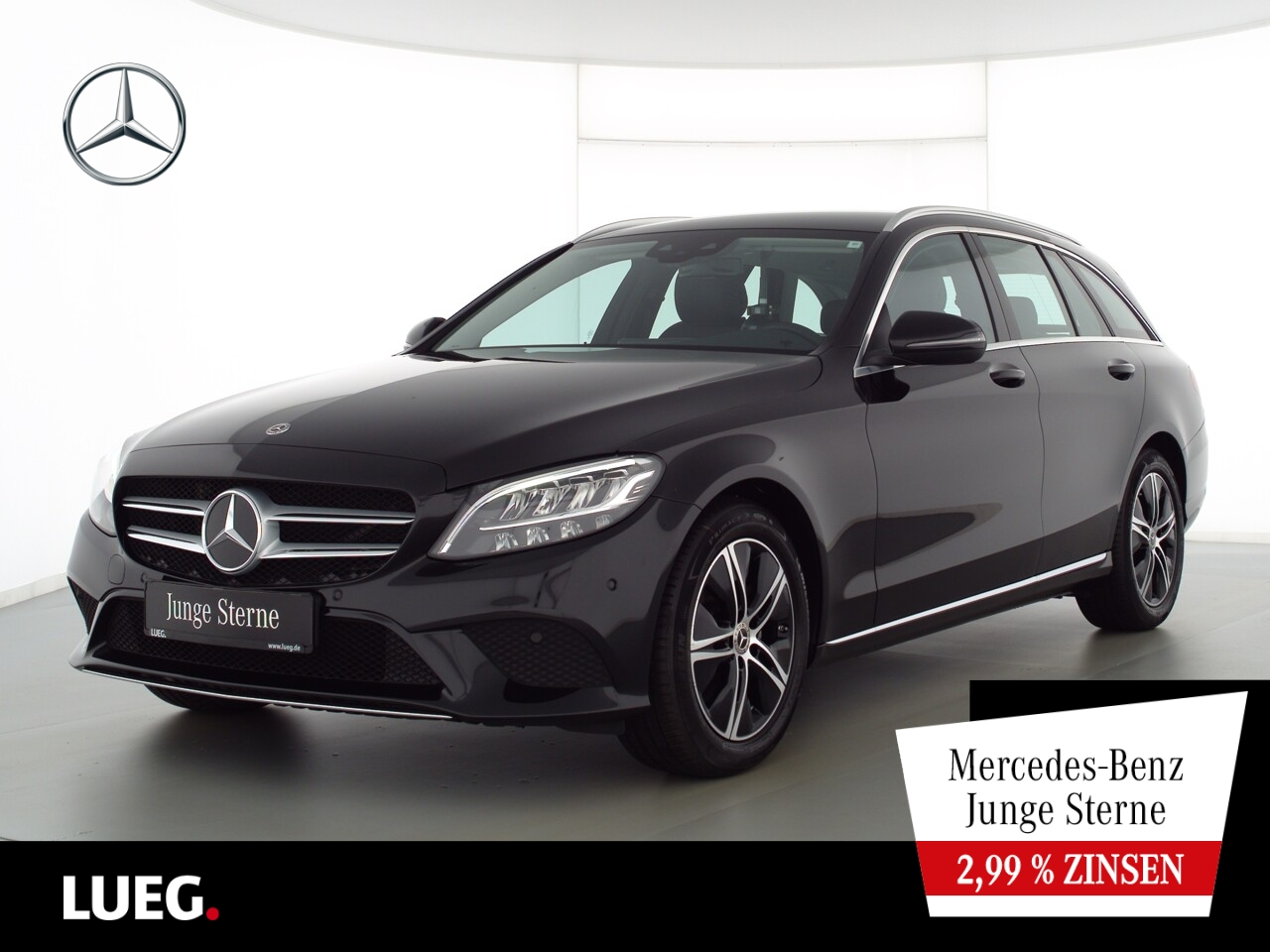 Mercedes-Benz C 180 T Avantgarde+Nav+LED-HP+SpurP+AHK+CarP+RFK, Jahr 2020, Benzin