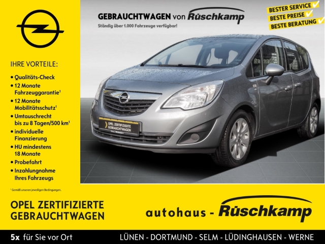 Opel Meriva B Active 1.4 Turbo Alu SHZ Tempomat LHZ Klimaautomatik, Jahr 2013, Benzin
