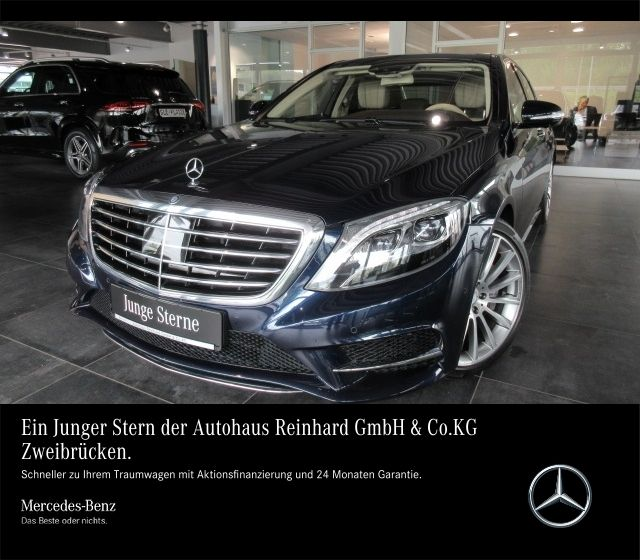 Mercedes-Benz S 500 4M AMG+20''+Panorama+Distronic+360+ILS+Top, Jahr 2015, petrol