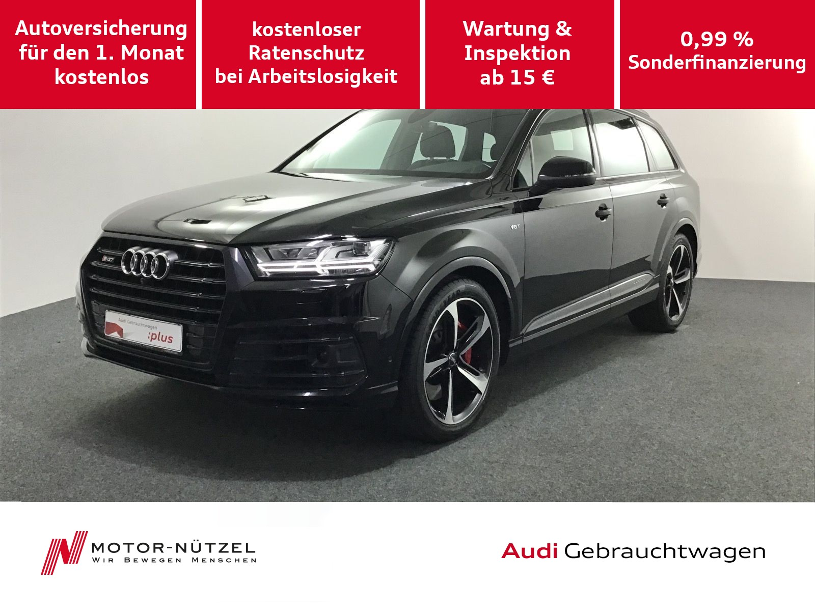 Audi SQ7 TDI quattro PanoDach+OptikSchwarz+AHK+21Zoll, Jahr 2017, Diesel