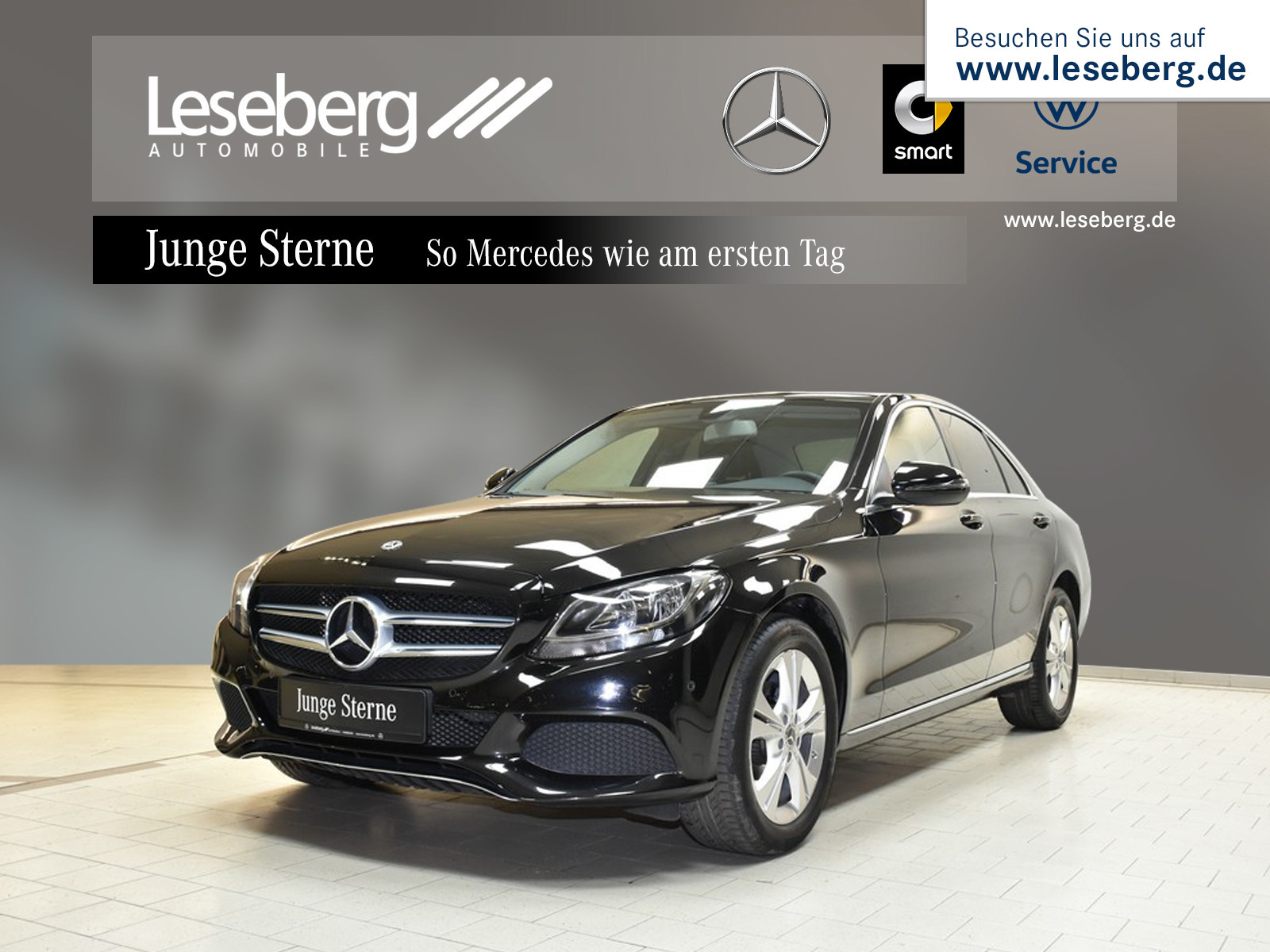 Mercedes-Benz C 180 Avantgarde/9G/PTS/Navigation/Sitzheizung, Jahr 2018, Benzin