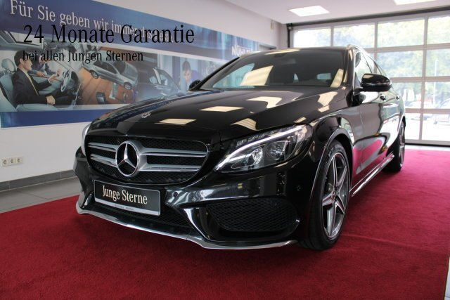 Mercedes-Benz C 200 d T-Modell AMG Line Exterieu+LED+KeylessGo, Jahr 2017, Diesel