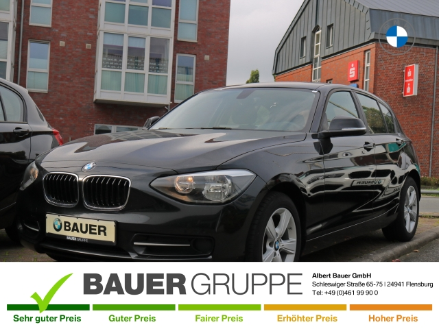 BMW 116 d Bluetooth Klimaautom SHZ Temp PDC Keyless Multif.Lenkrad RDC CD AUX USB MP3 ESP MAL, Jahr 2014, Diesel